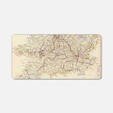 Vintage Map of England (183 Aluminum License Plate