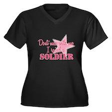 Army Mom Women's Plus Size V-Neck Dark T-Shirt