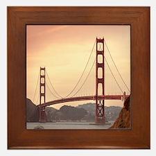 Beautiful Golden Gate Bridge Framed Tile