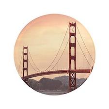 Beautiful Golden Gate Bridge Button