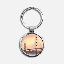 Beautiful Golden Gate Bridge Round Keychain