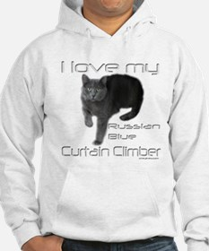 Russian Blue Cat Curtain Climber Hoodie