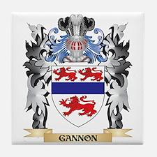 Gannon Coat of Arms - Family Crest Tile Coaster
