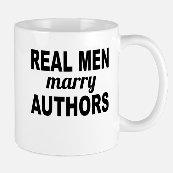 Real Men Marry Authors Mugs