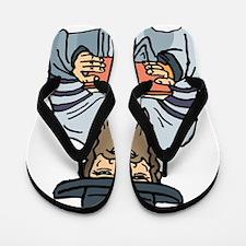 Man Praying Flip Flops