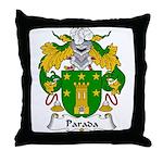 Parada Family Crest Throw Pillow