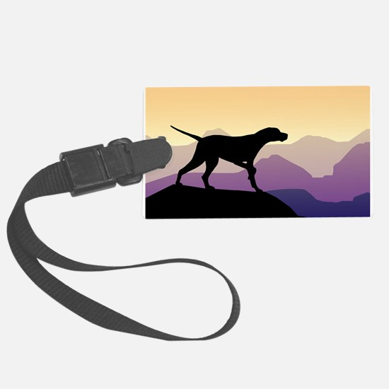 Purple Mountains Pointer Luggage Tag