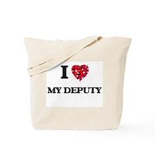 I Love My Deputy Tote Bag
