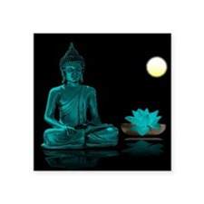 Teal Colour Buddha Sticker