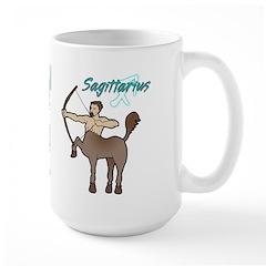 Cartoon Sagittarius Large Mug