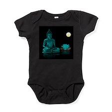 Teal Colour Buddha Baby Bodysuit