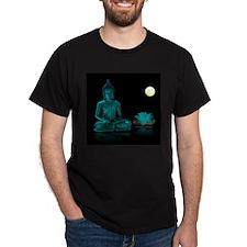 Teal Colour Buddha T-Shirt