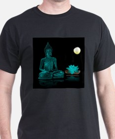 Teal Colour Buddha T-Shirt