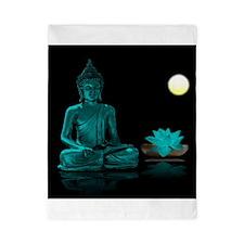 Teal Colour Buddha Twin Duvet