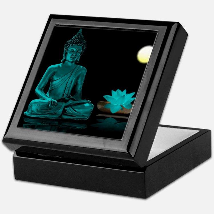 Teal Colour Buddha Keepsake Box