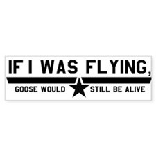 Goose (White) Bumper Bumper Sticker