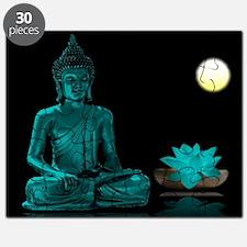 Teal Colour Buddha Puzzle