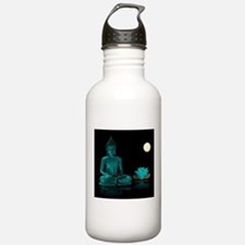 Teal Colour Buddha Water Bottle