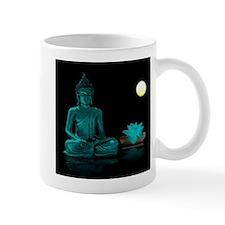 Teal Colour Buddha Mugs