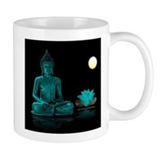 Teal Colour Buddha Mugs