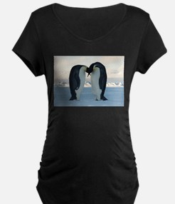 Emperor Penguin Courtship Maternity T-Shirt