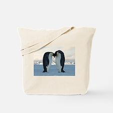 Emperor Penguin Courtship Tote Bag