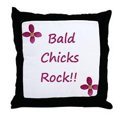 Bald chicks rock! Throw Pillow