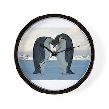 Emperor Penguin Courtship Wall Clock