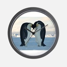 Emperor Penguin Courtship Wall Clock