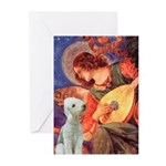 Angel / Bedlington T Greeting Cards (Pk of 20)