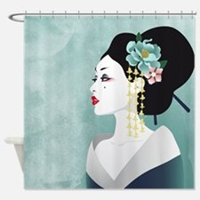 Japanese Woman Shower Curtain