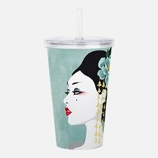Japanese Woman Acrylic Double-wall Tumbler
