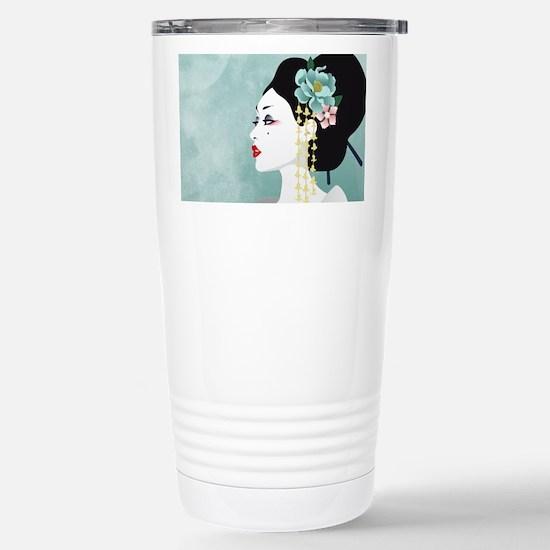 Japanese Woman Travel Mug