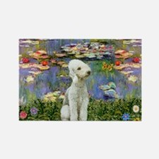 Lilies / Bedlington T Rectangle Magnet