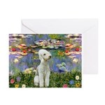 Lilies / Bedlington T Greeting Cards (Pk of 10)