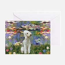 Lilies / Bedlington T Greeting Card