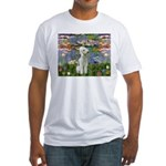 Lilies / Bedlington T Fitted T-Shirt
