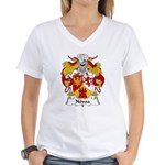 Novoa Family Crest Women's V-Neck T-Shirt