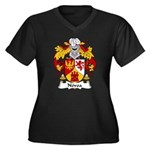 Novoa Family Crest Women's Plus Size V-Neck Dark T