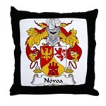 Novoa Family Crest Throw Pillow