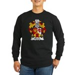 Novoa Family Crest Long Sleeve Dark T-Shirt
