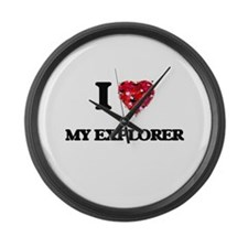 I love My Explorer Large Wall Clock