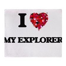 I love My Explorer Throw Blanket
