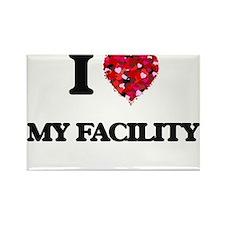 I Love My Facility Magnets