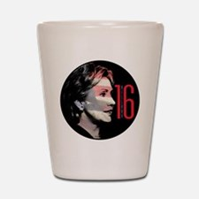 Hillary Clinton Flag Icon Shot Glass
