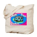 White Trash Couture BluePink Tote Bag