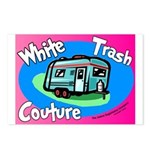 White Trash Couture BluePink Postcards (Package of