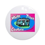 White Trash Couture BluePink Ornament (Round)