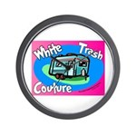 White Trash Couture BluePink Wall Clock
