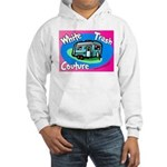 White Trash Couture BluePink Hooded Sweatshirt